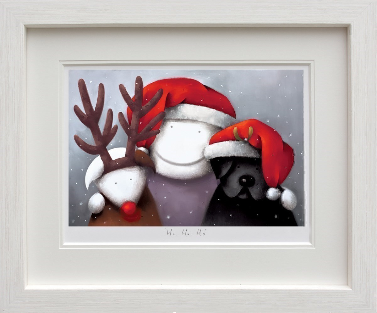 Ho Ho Ho by Doug Hyde - Limited Edition on Paper sized 18x12 inches. Available from Whitewall Galleries